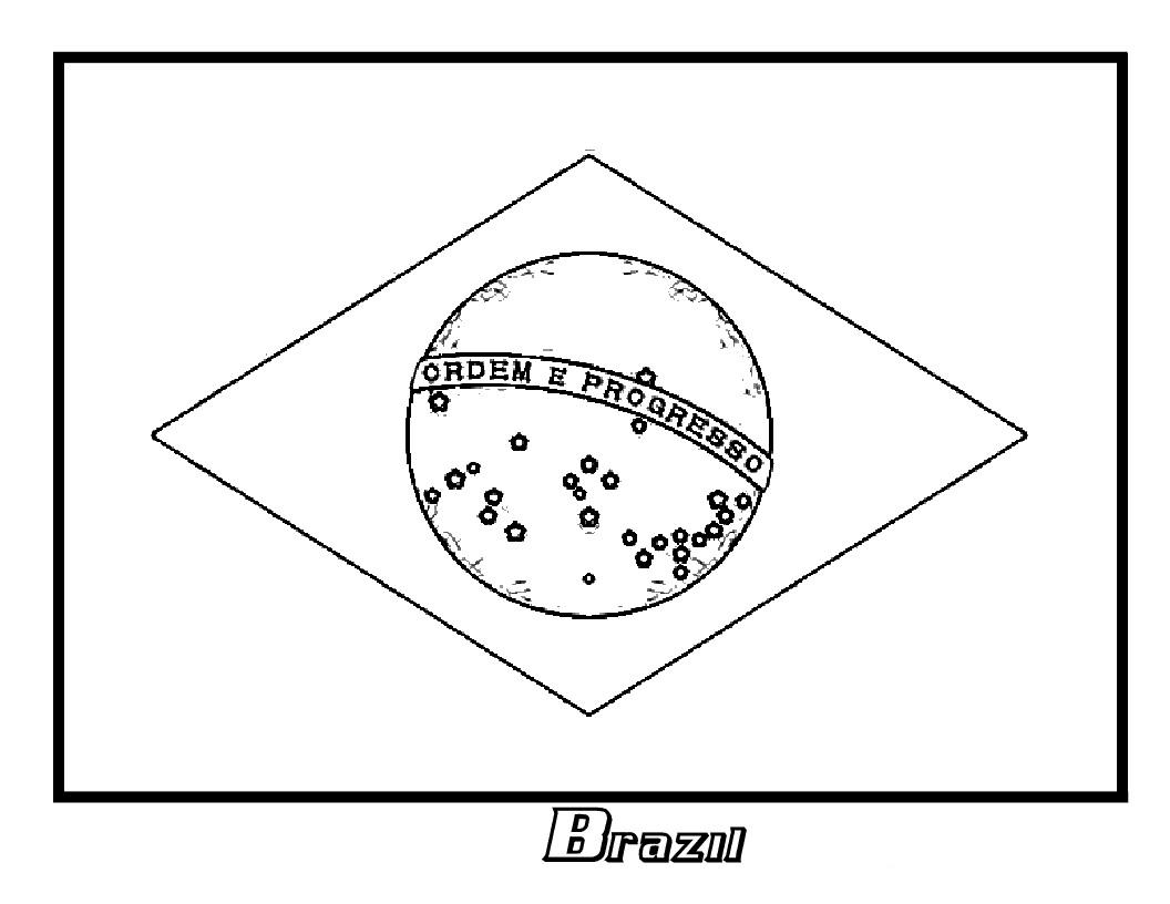 Brazil Flag Drawing At Getdrawings