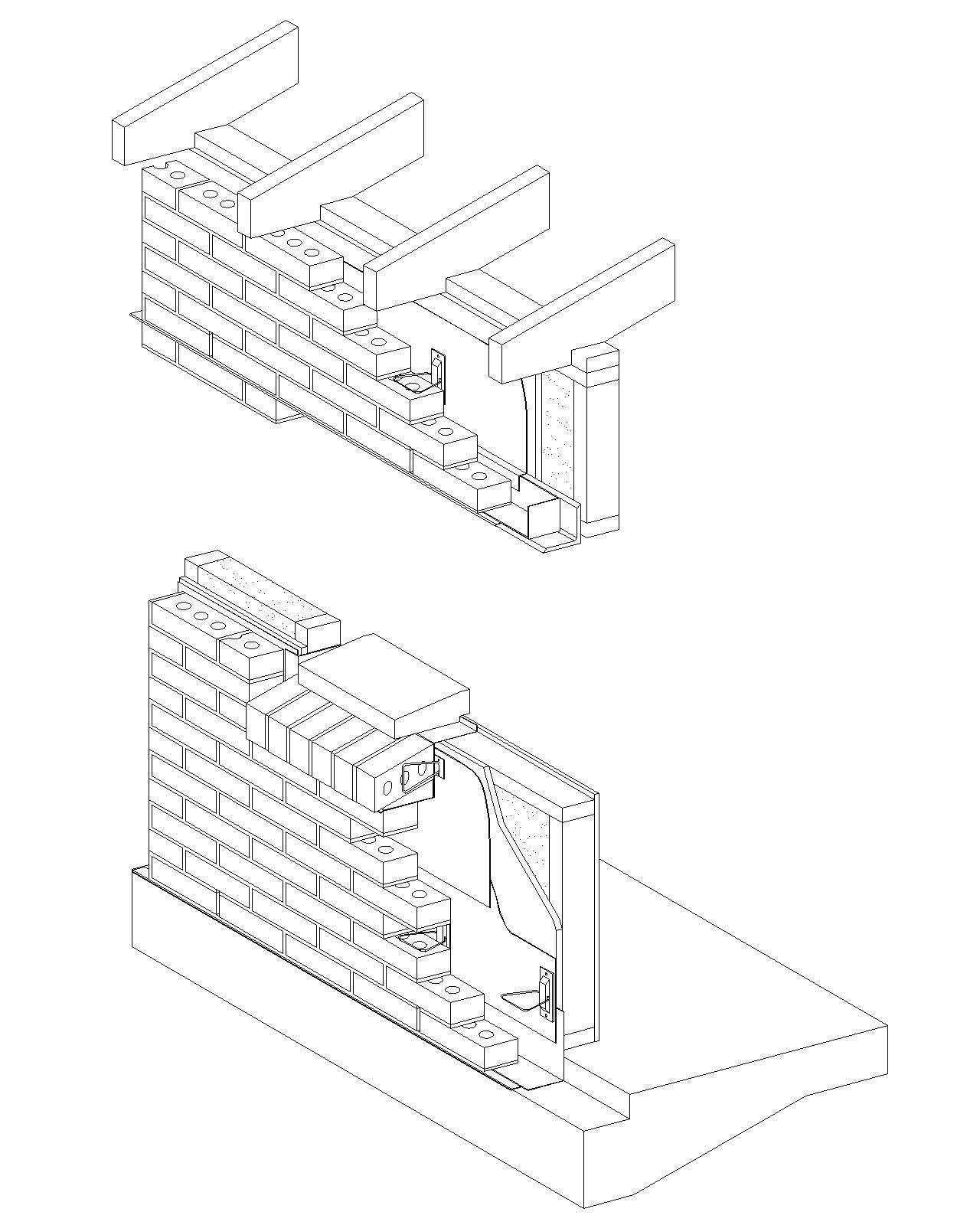 Brick Building Drawing At Getdrawings