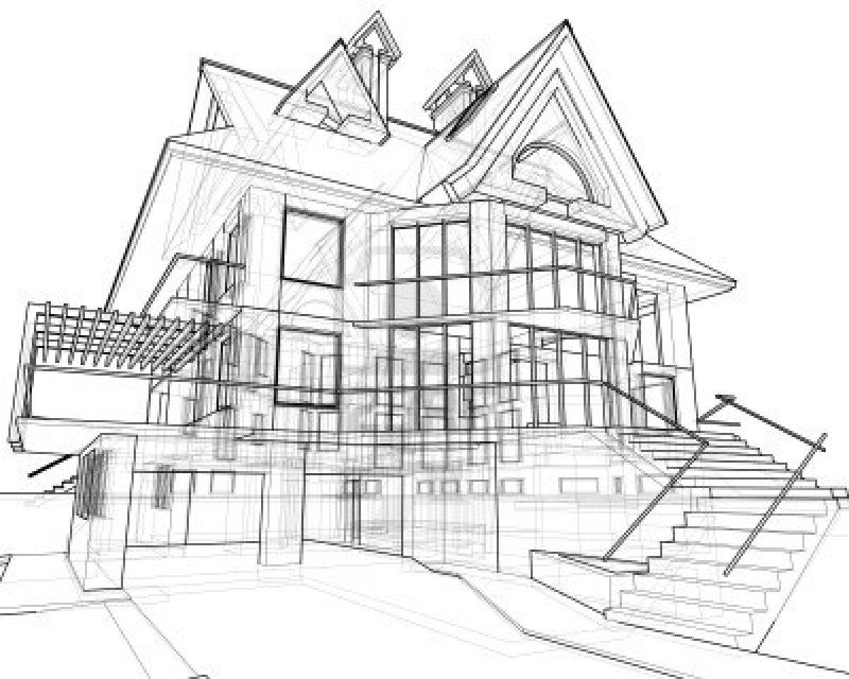 Brick House Drawing At Getdrawings