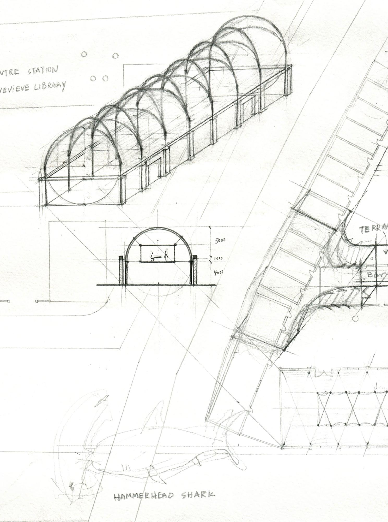 Brooklyn Bridge Architectural Drawing At Getdrawings