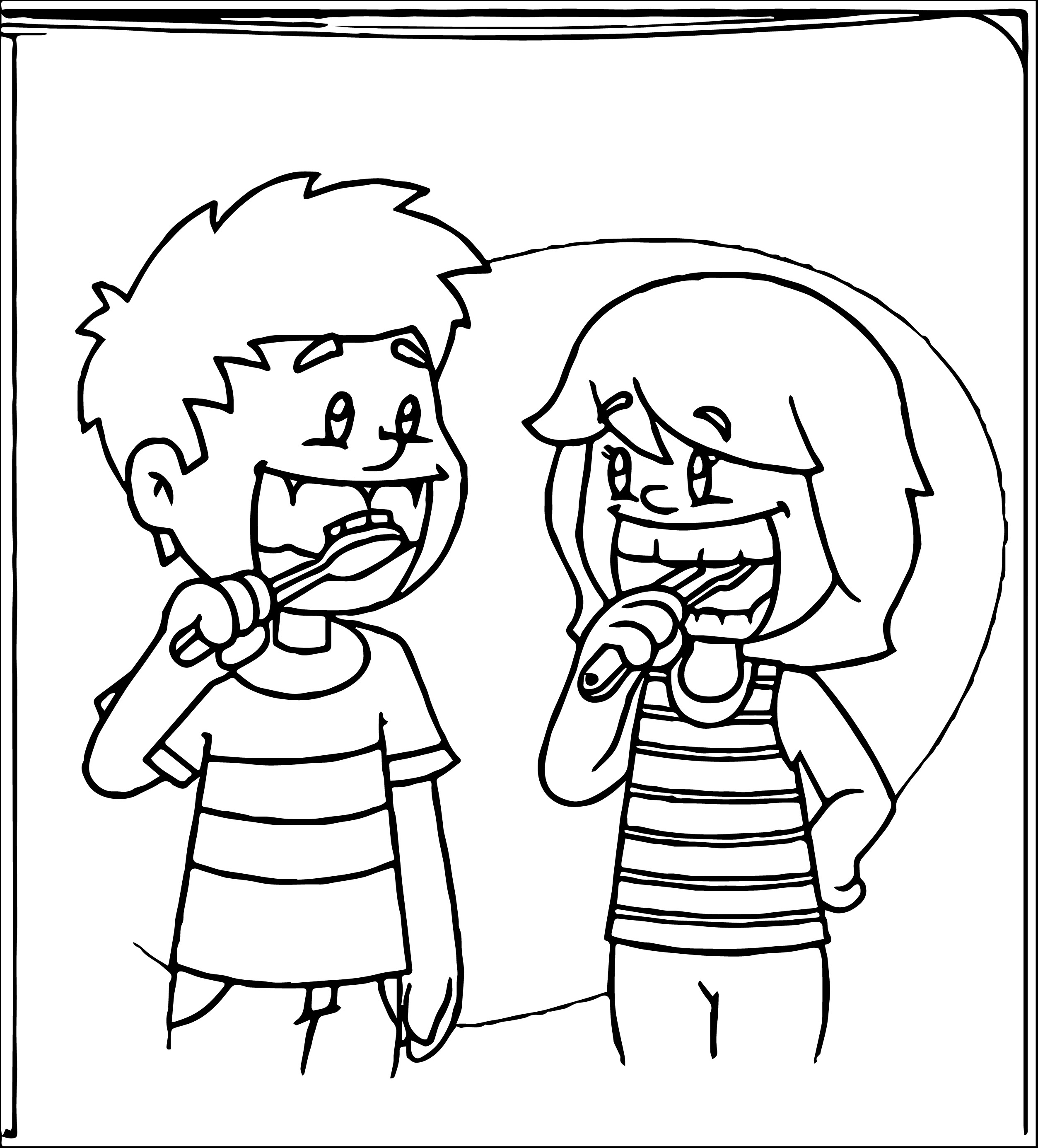 Brush Teeth Drawing At Getdrawings