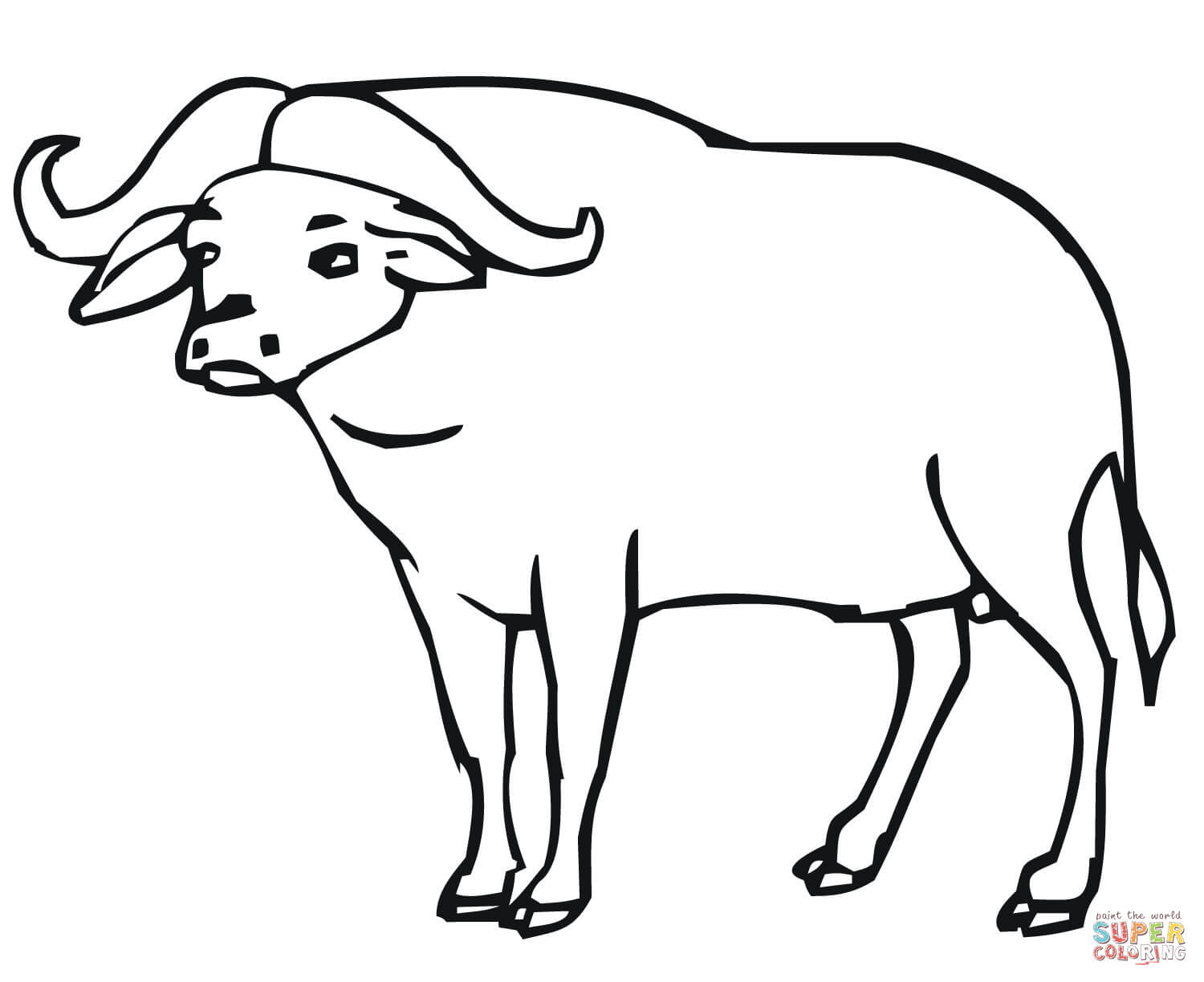 Buffalo Outline Drawing At Getdrawings