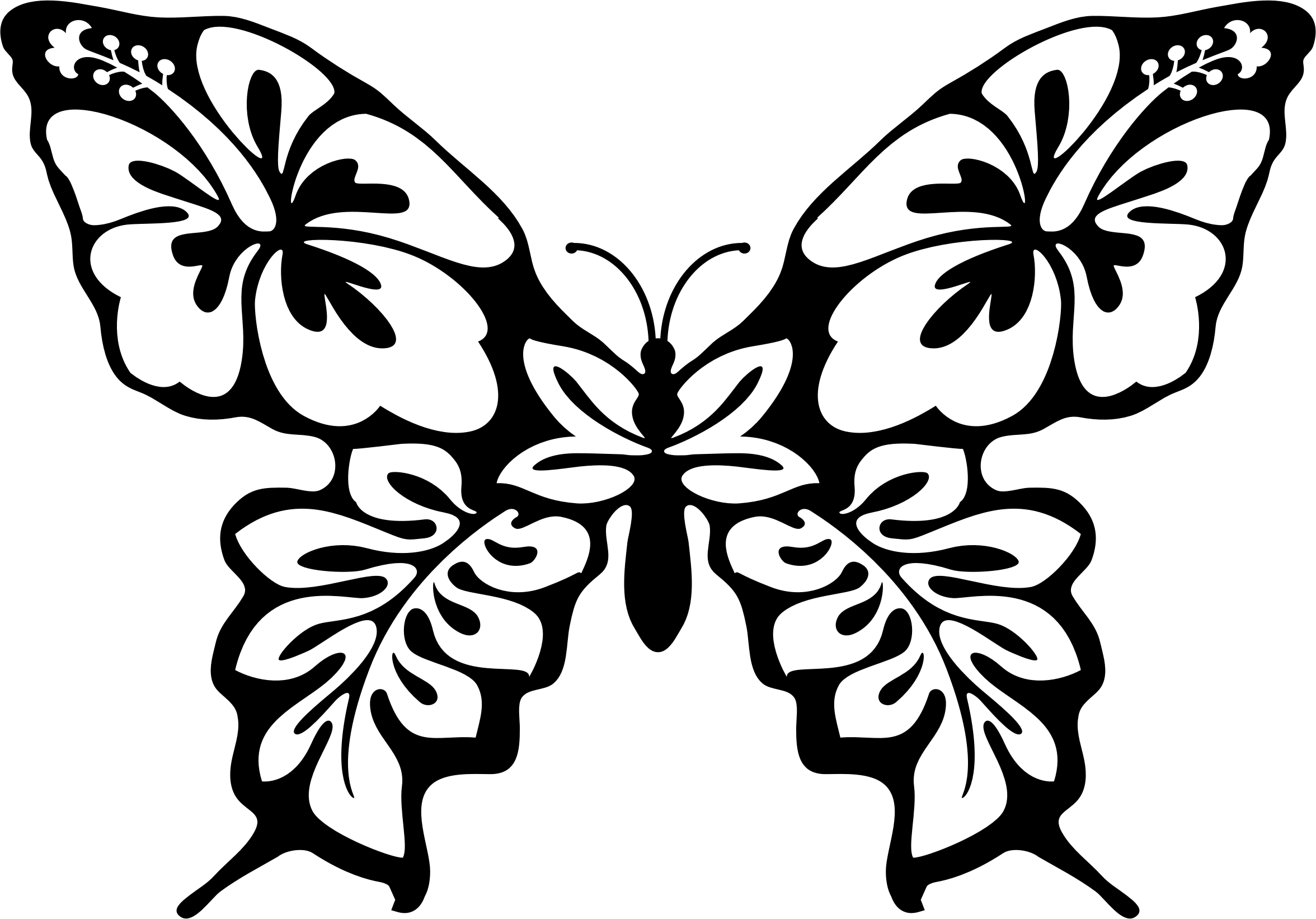 Butterflies And Flowers Drawing At Getdrawings