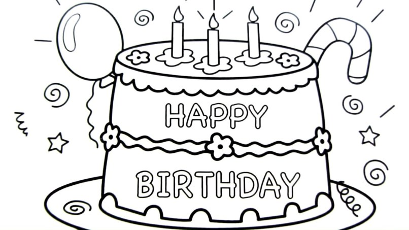 Easy To Draw Happy Birthday Pictures Imaganationface Org