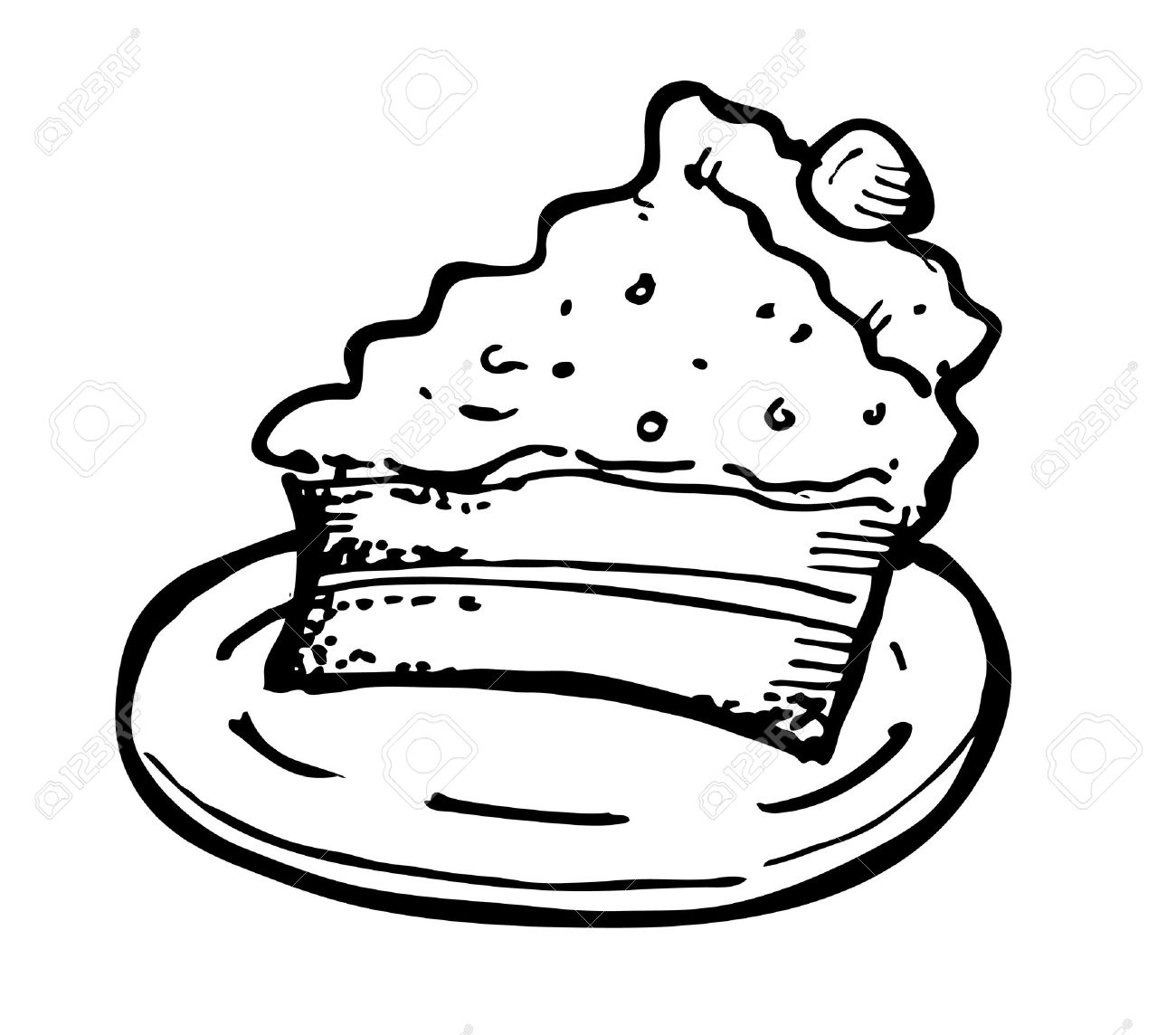 Cake Slice Drawing At Getdrawings