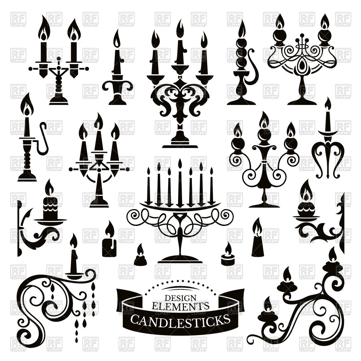 Candle Holder Drawing At Getdrawings