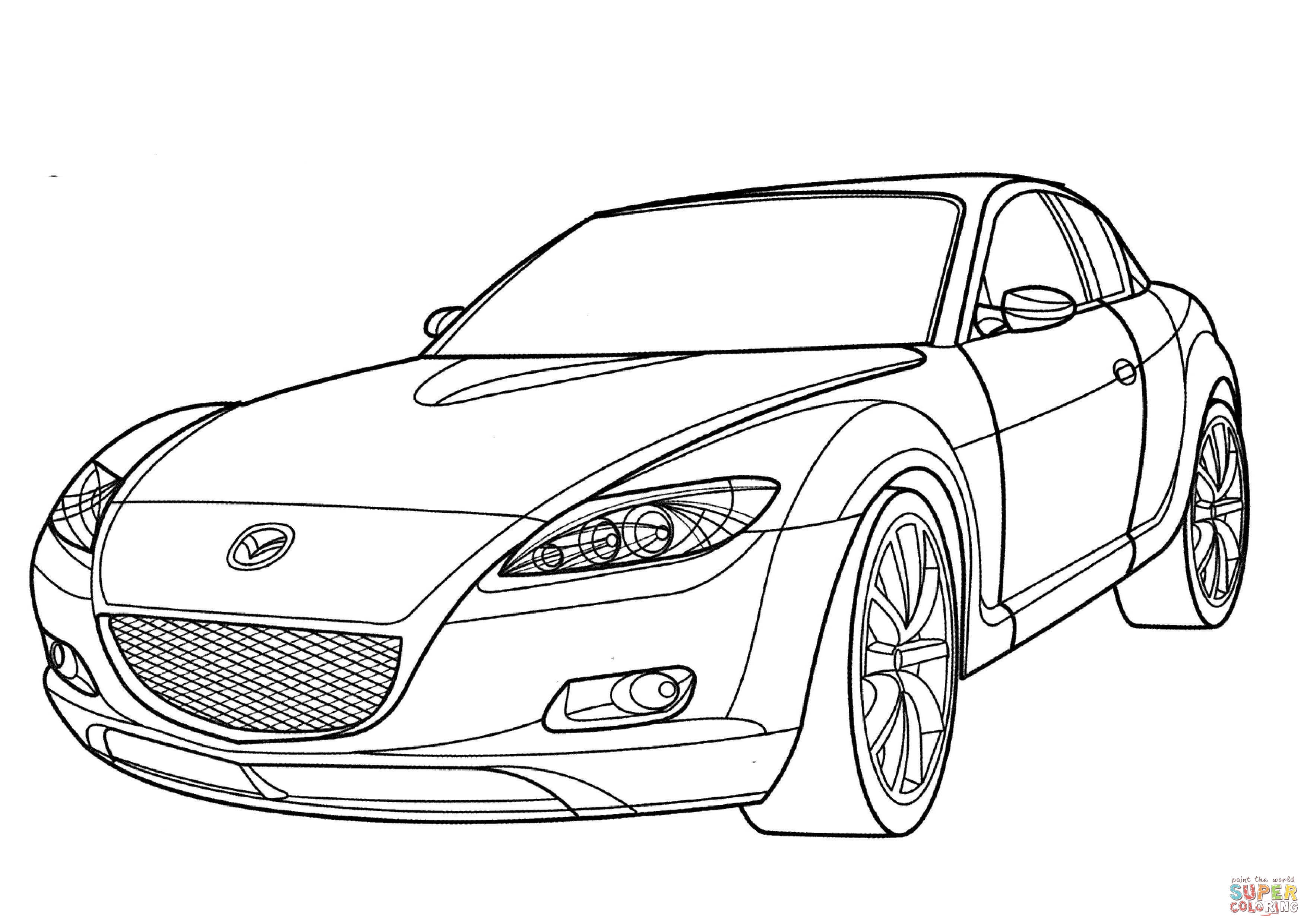 Car Drawing Top View At Getdrawings
