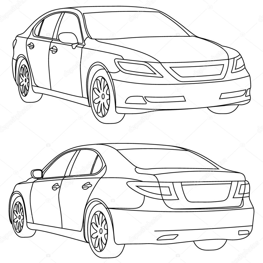 Car drawing vector at getdrawings free for personal use car