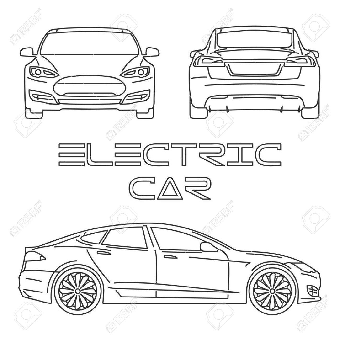 Car Front View Drawing At Getdrawings