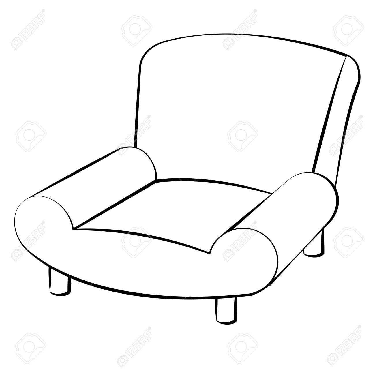Cartoon Couch Drawing At Getdrawings
