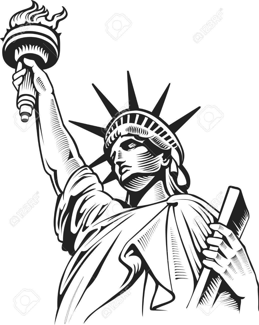 Cartoon Drawing Of The Statue Of Liberty At Getdrawings