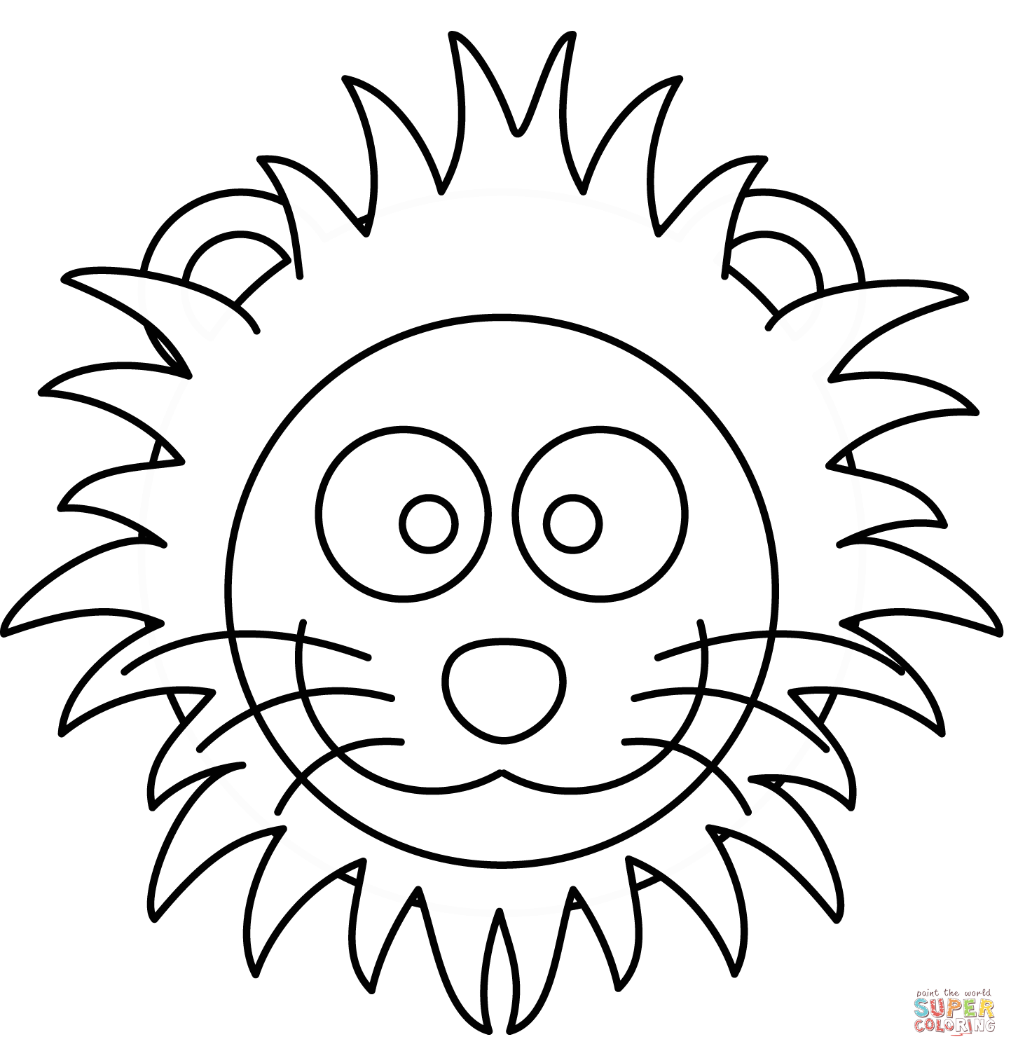 Cartoon Lion Face Drawing At Getdrawings