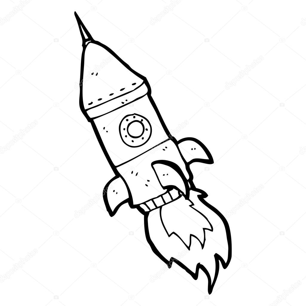 Cartoon Rocket Drawing At Getdrawings