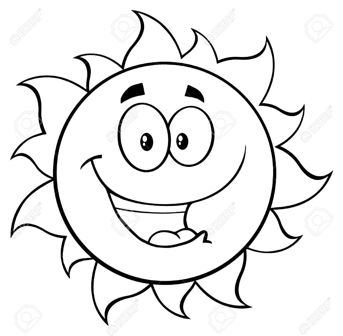 Cartoon Sun Drawing At Getdrawings