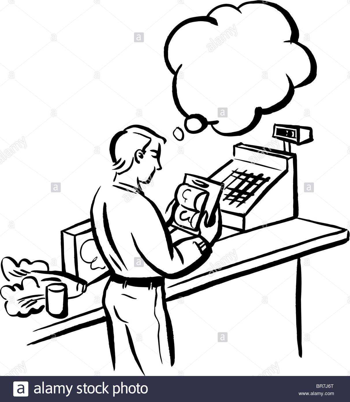 Cashier Drawing At Getdrawings