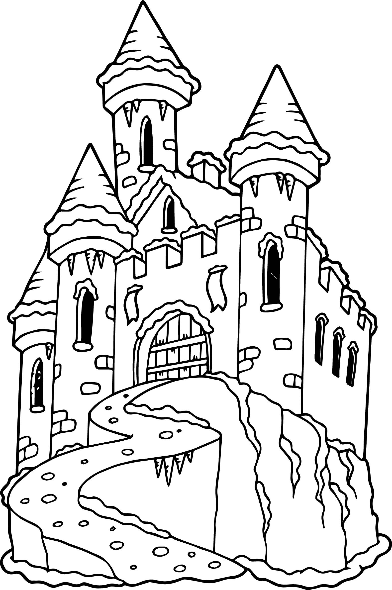 Castle Drawing For Kids At Getdrawings