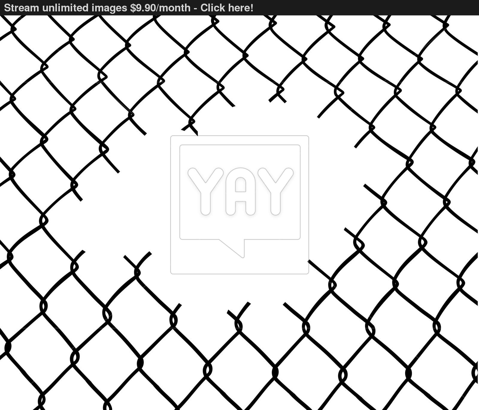 Chain Link Fence Drawing At Getdrawings