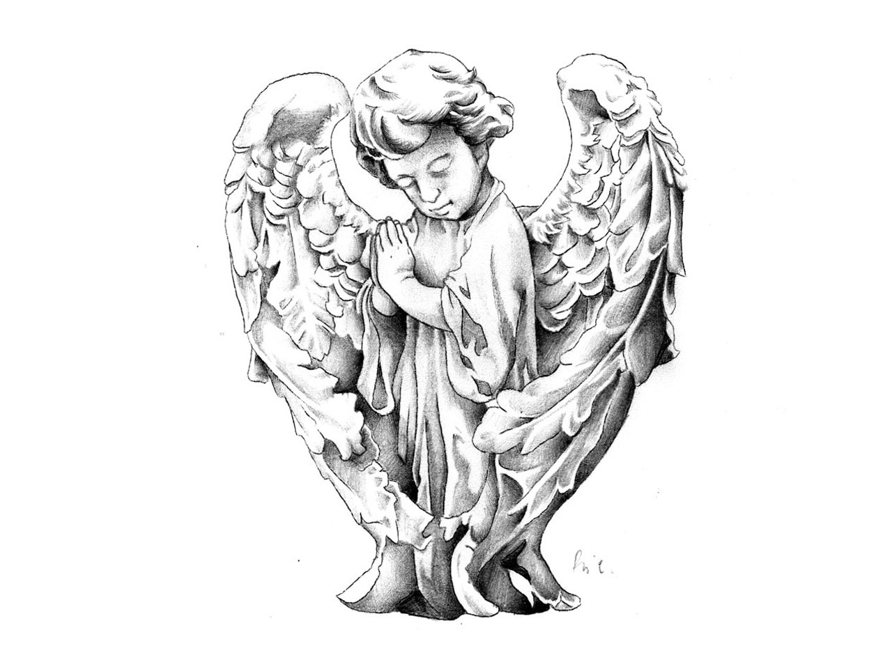Cherub Angel Drawing At Getdrawings