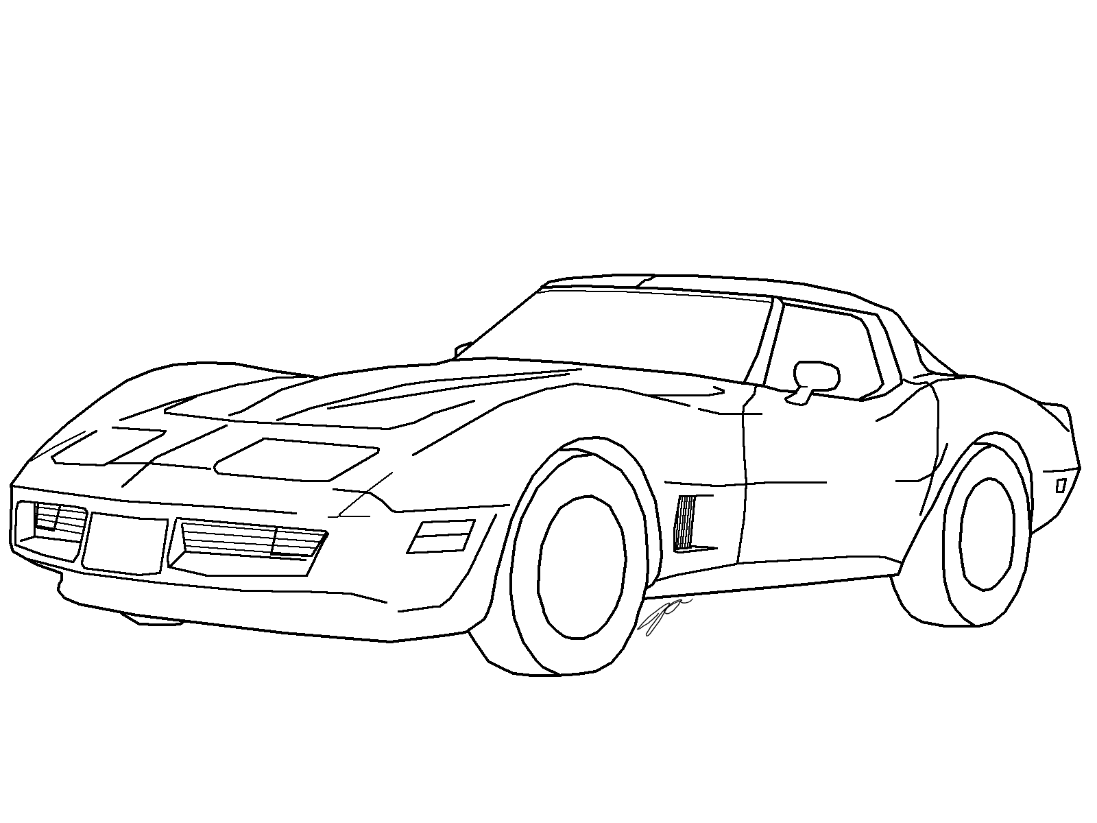 Chevrolet Corvette Drawing At Getdrawings