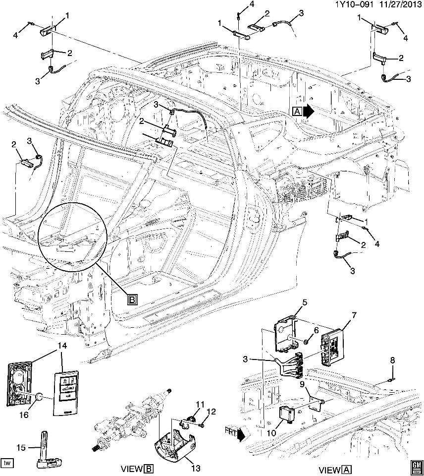 856x960 2014 2015 chevrolet corvette c7 coupe key fob new oem empty case