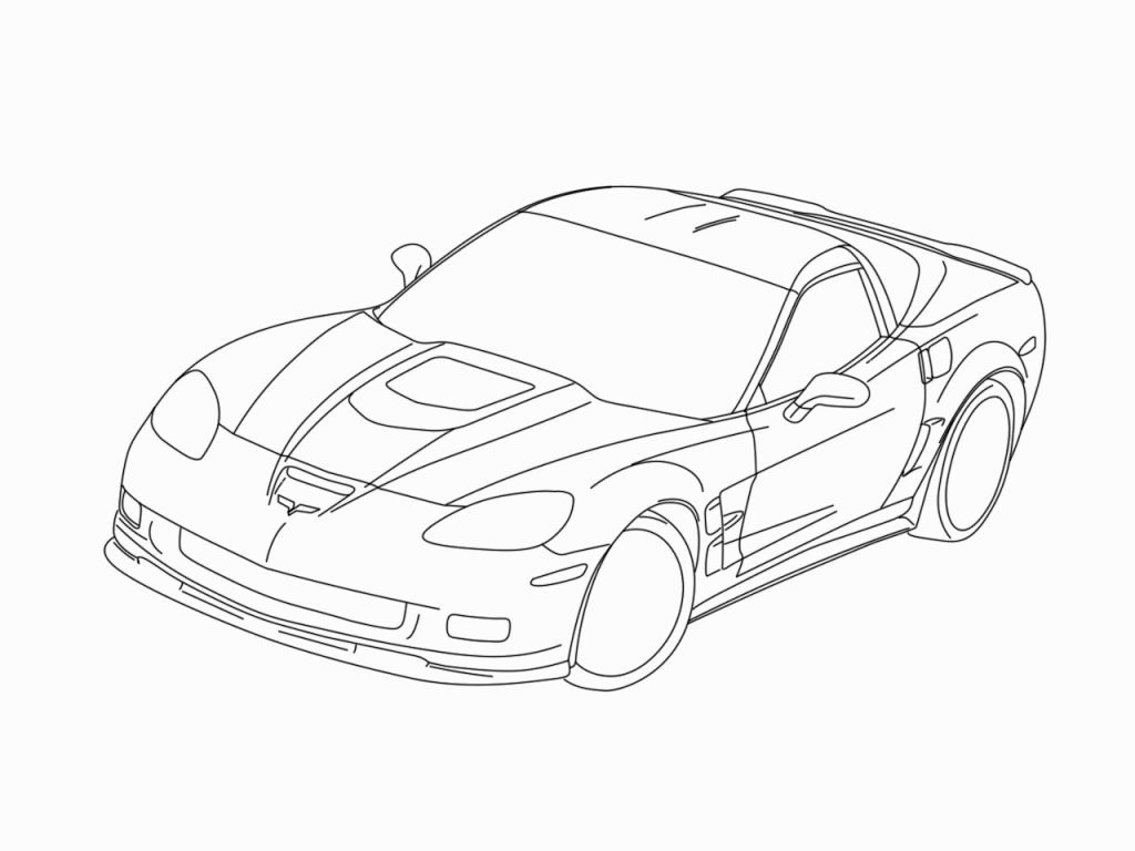 1024x768 corvette coloring pages corv on chevy camaro coloring page many