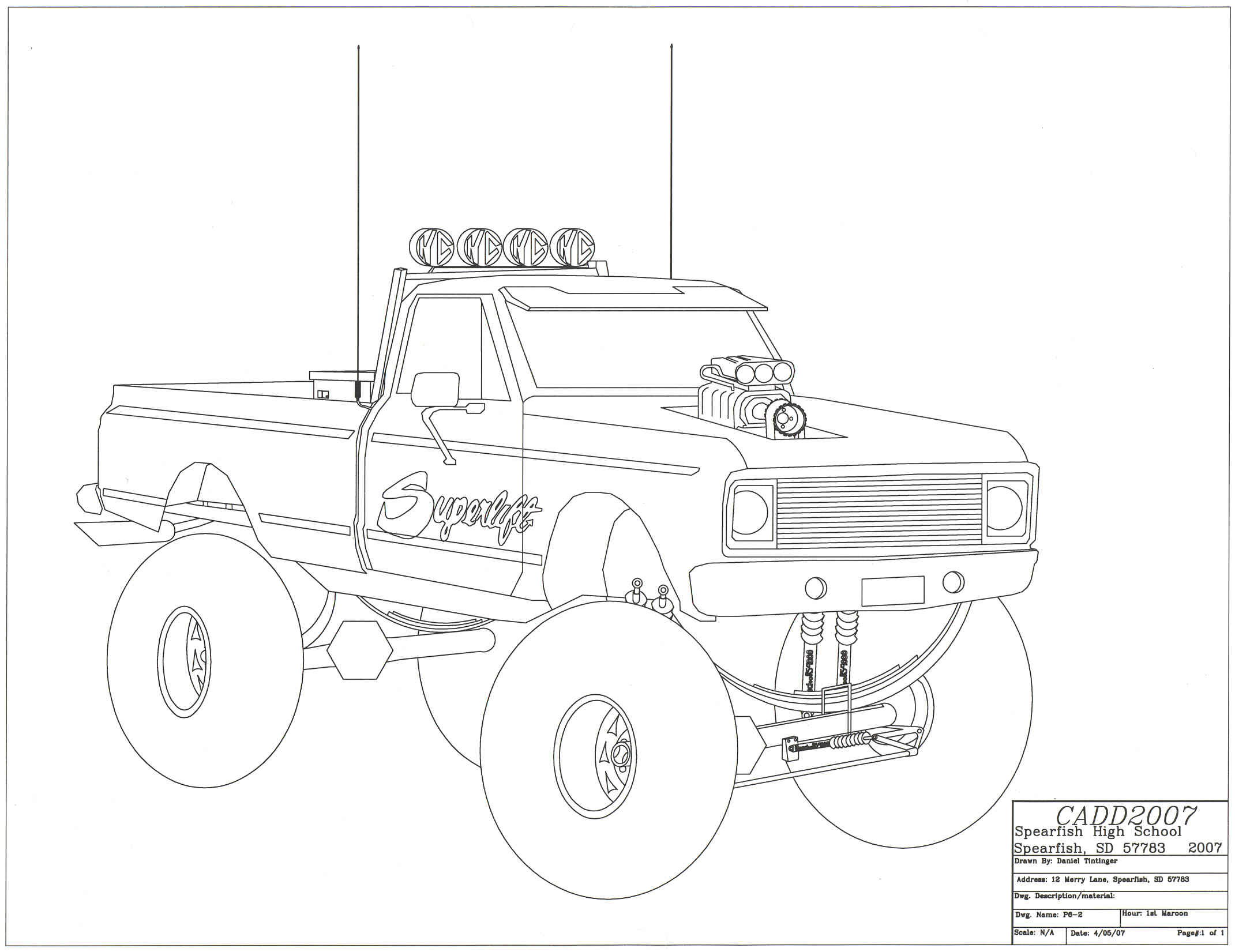 Chevy Silverado Drawing At Getdrawings