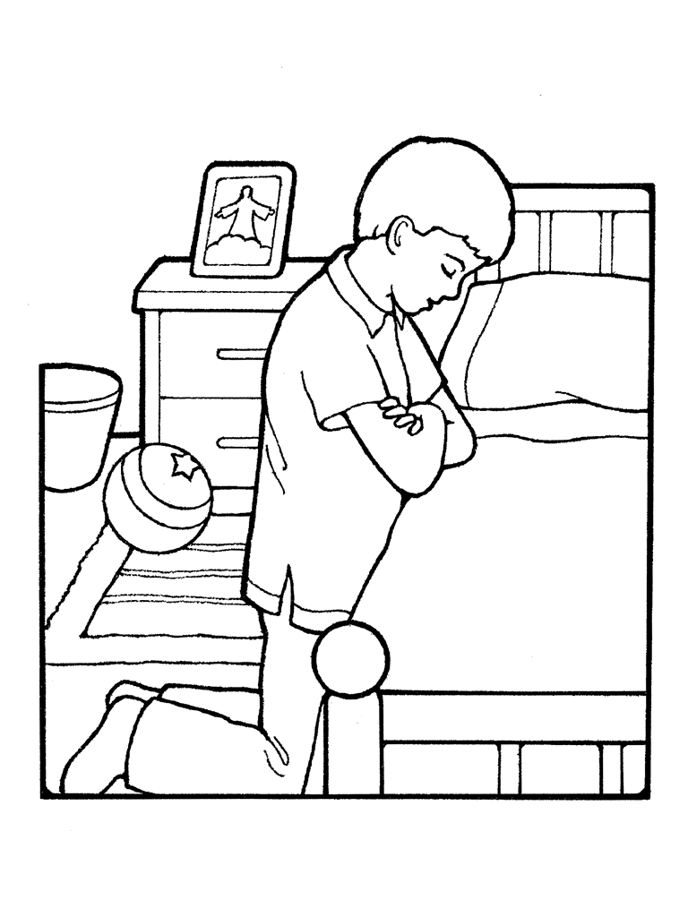 Child praying drawing at getdrawings com free for personal use thanksgiving prayer coloring pages
