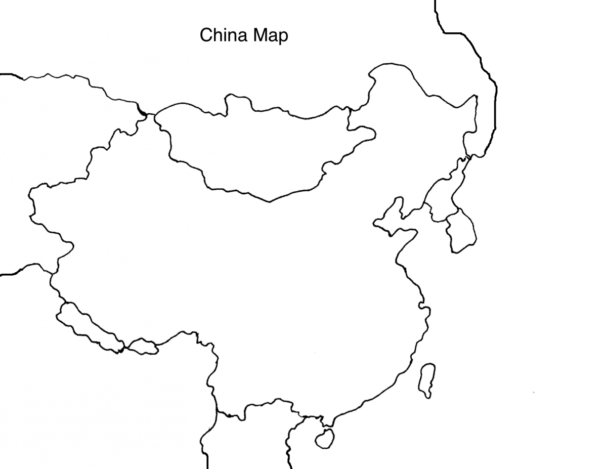 China Map Drawing At Getdrawings