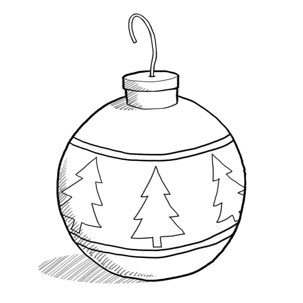Christmas Balls Drawing At Getdrawings