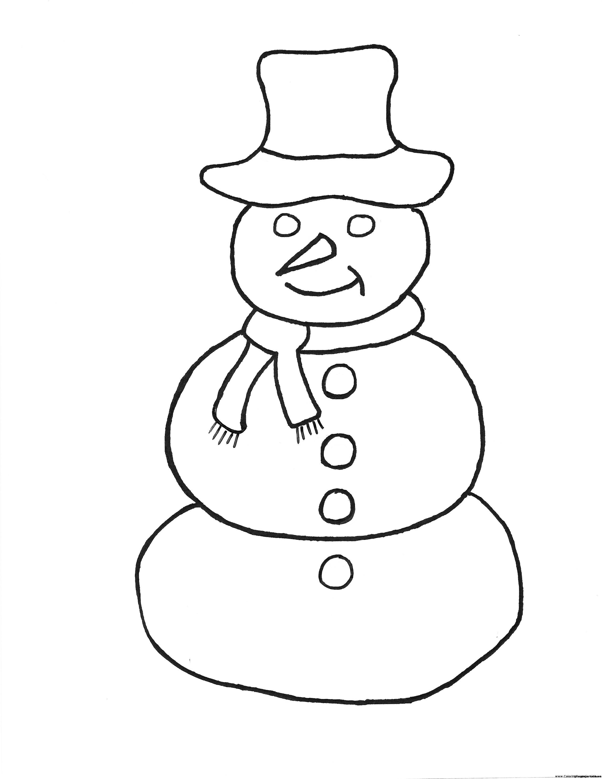 Christmas Snowman Drawing At Getdrawings