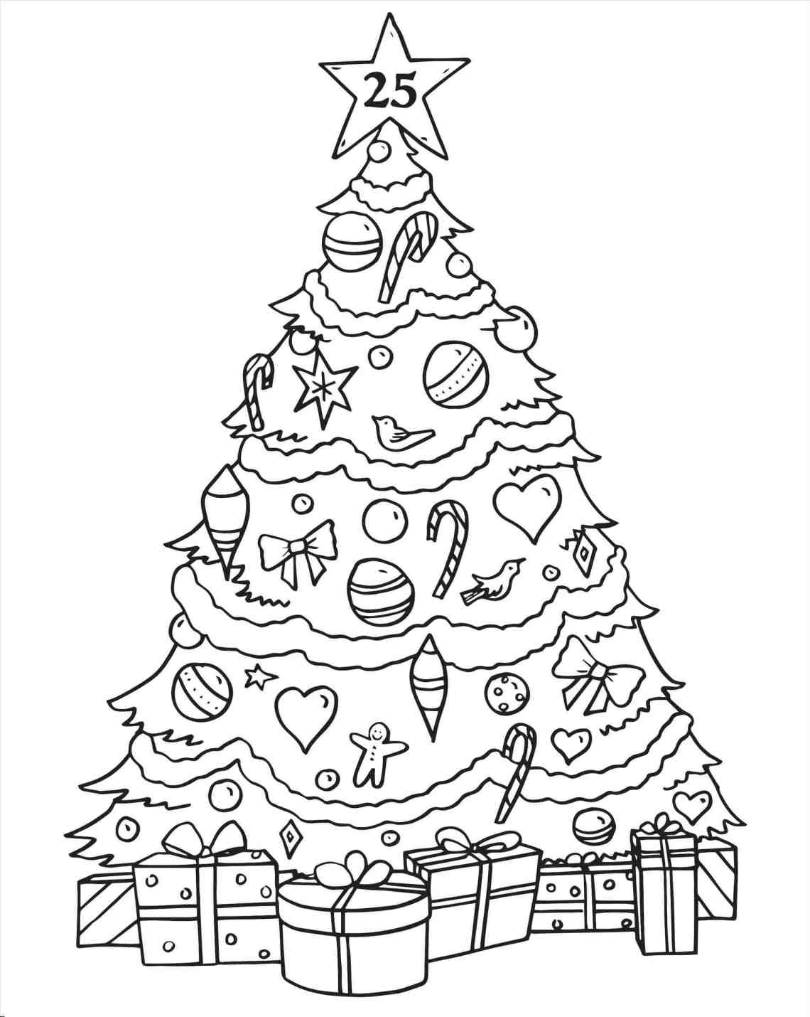 Christmas Tree Drawing For Kids at GetDrawings | Free download | christmas tree coloring pages