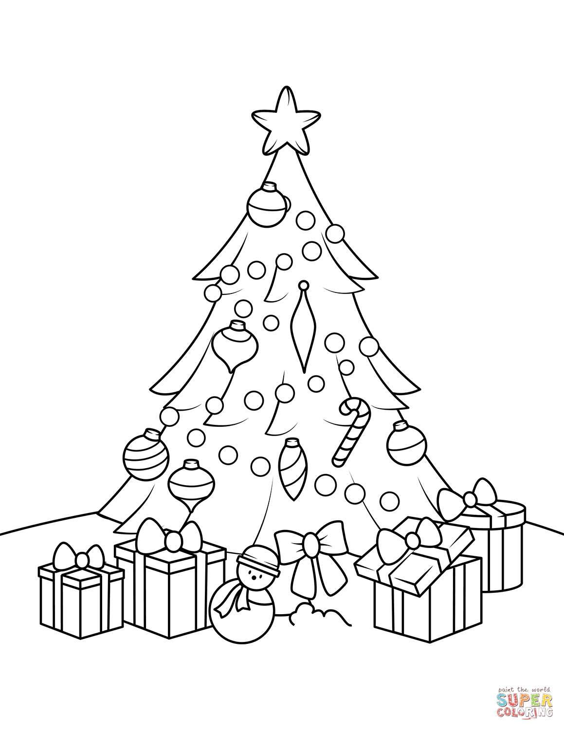 Christmas Tree Drawing Realistic At Getdrawings