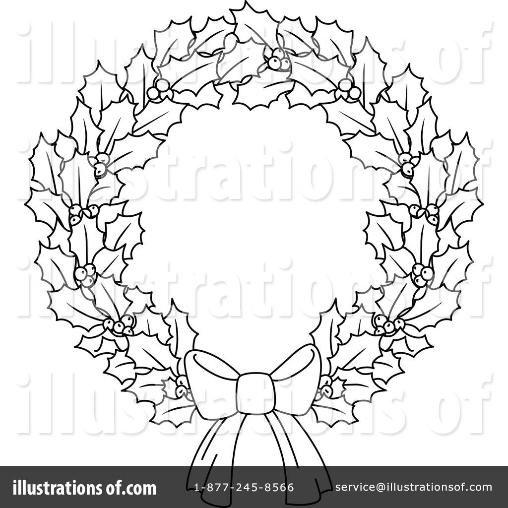 Christmas Wreath Drawing At Getdrawings
