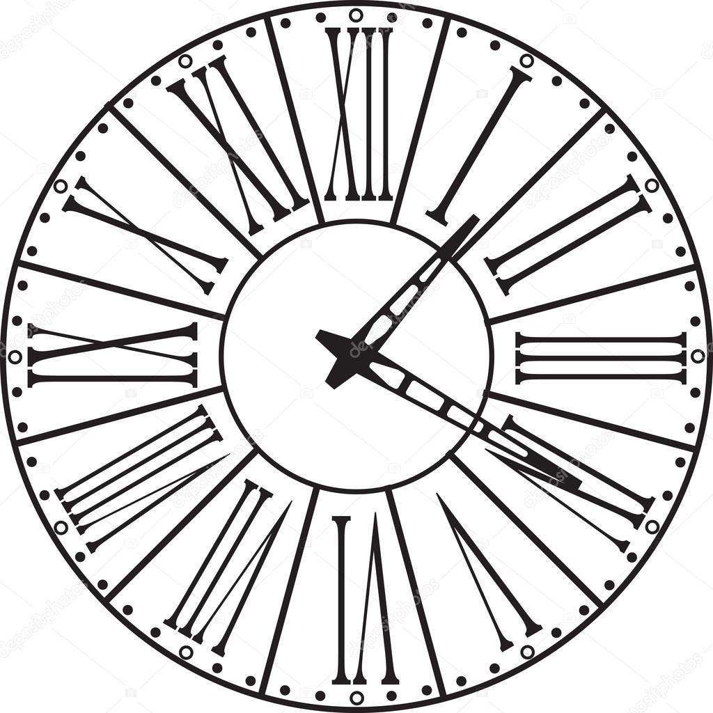 Clock Face Drawing At Getdrawings