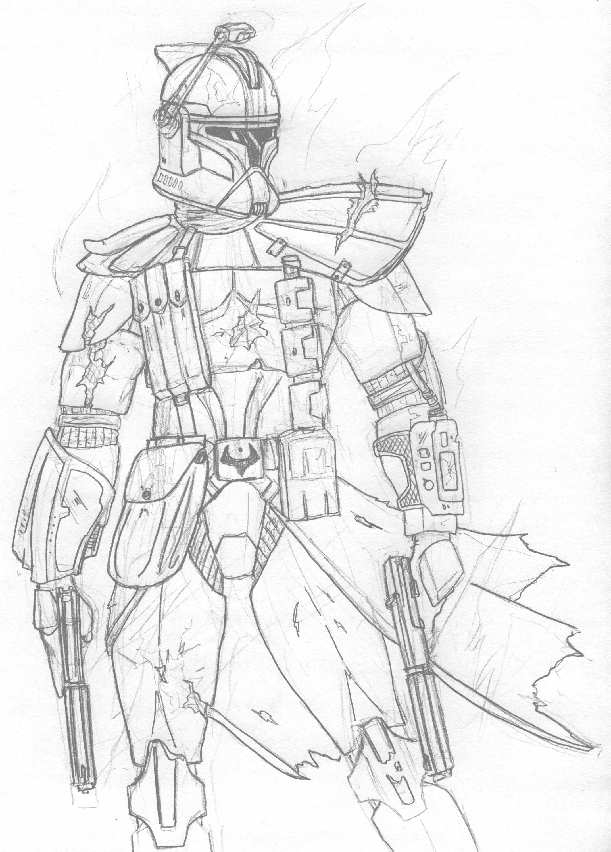 Clone Trooper Drawing At Getdrawings
