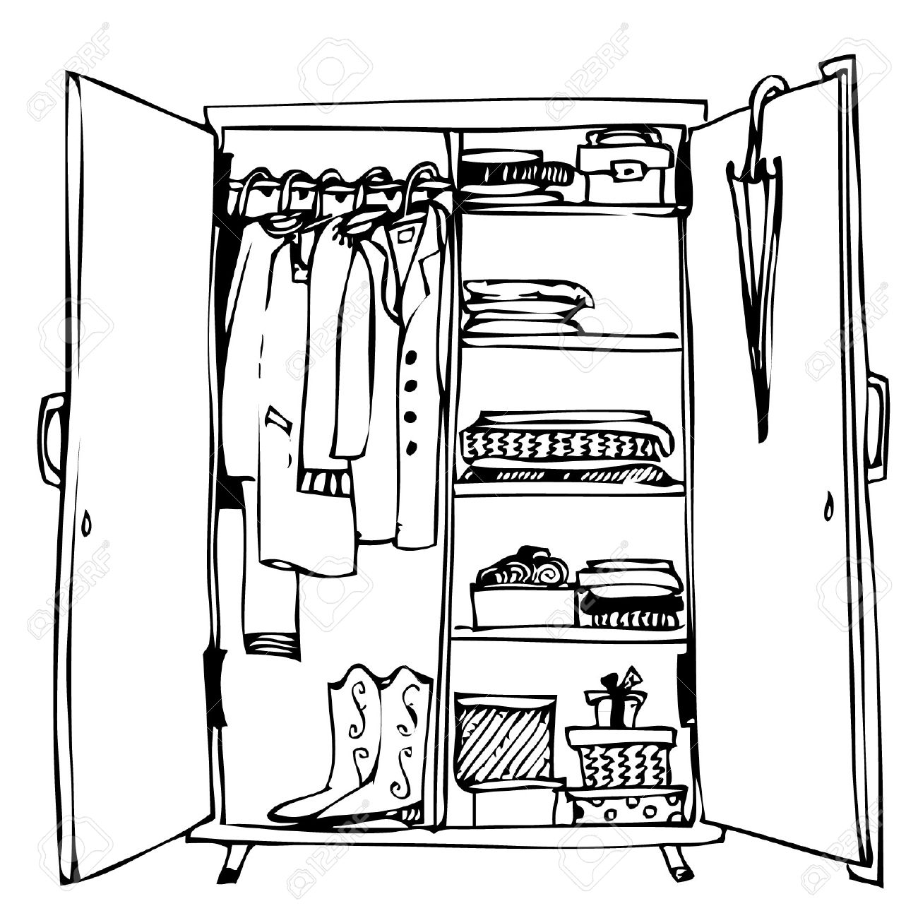 The Best Free Wardrobe Drawing Images Download From 125