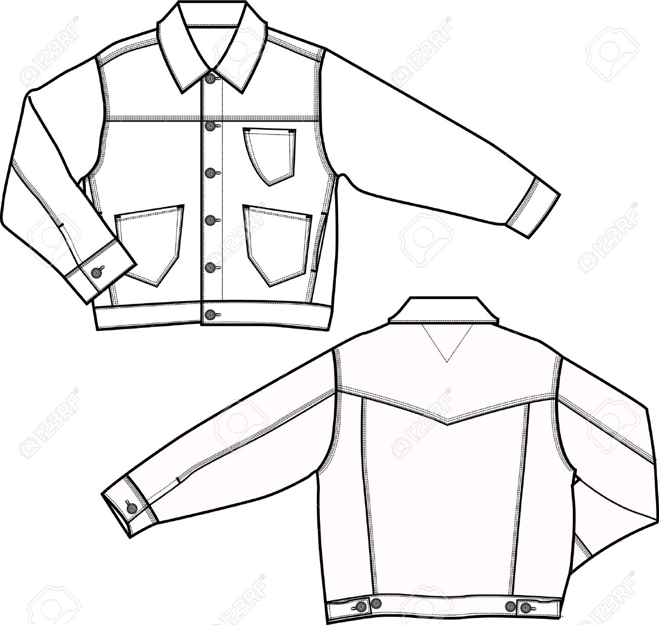 Coat Technical Drawing At Getdrawings