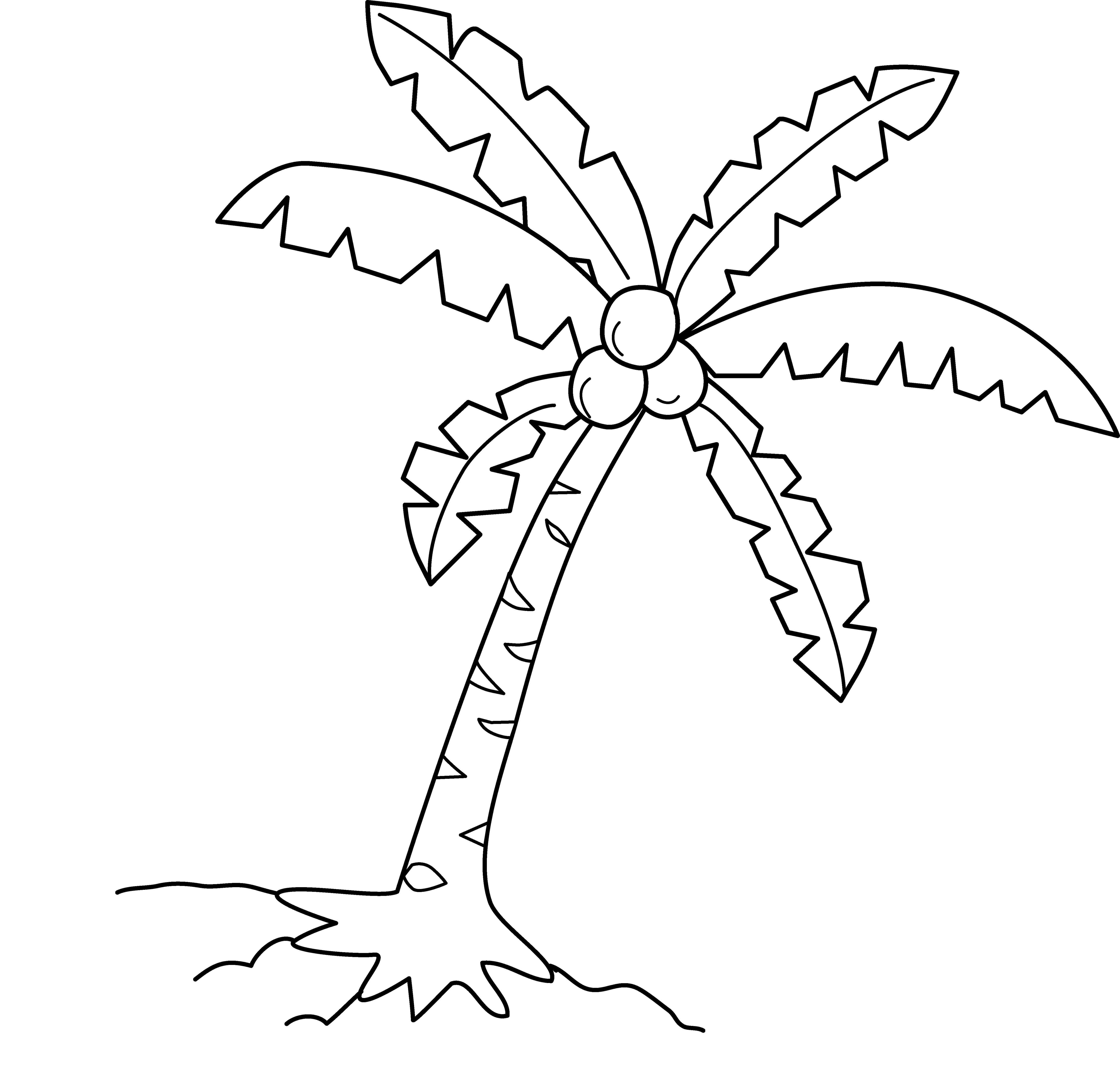 Coconut Tree Drawing At Getdrawings