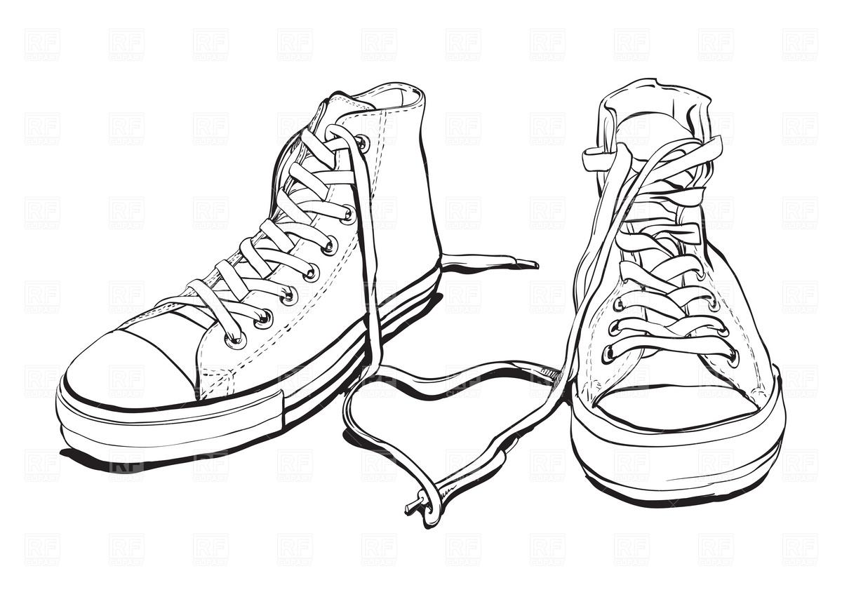 Converse Shoes Drawing At Getdrawings