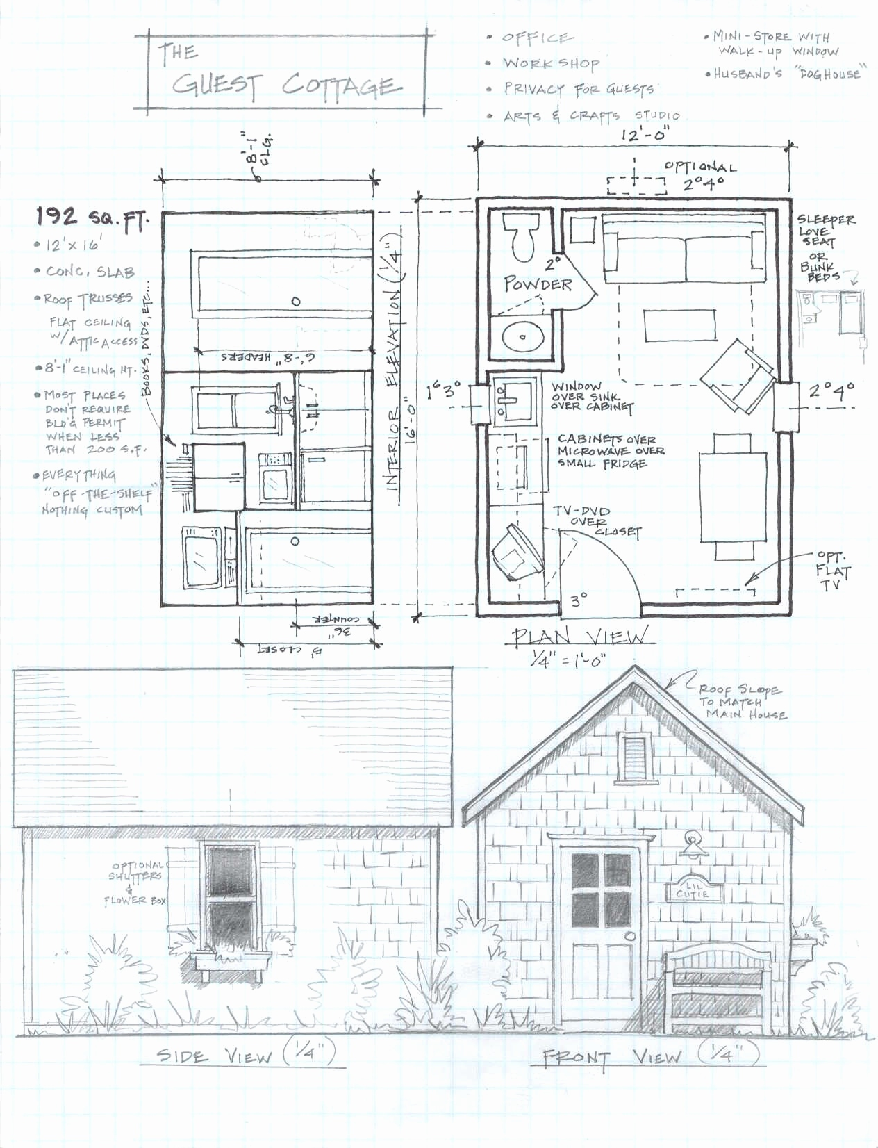 Cottage Drawing At Getdrawings