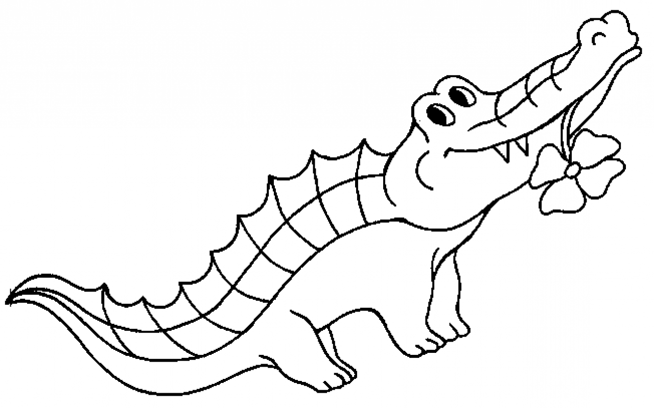 Crocodile Cartoon Drawing At Getdrawings