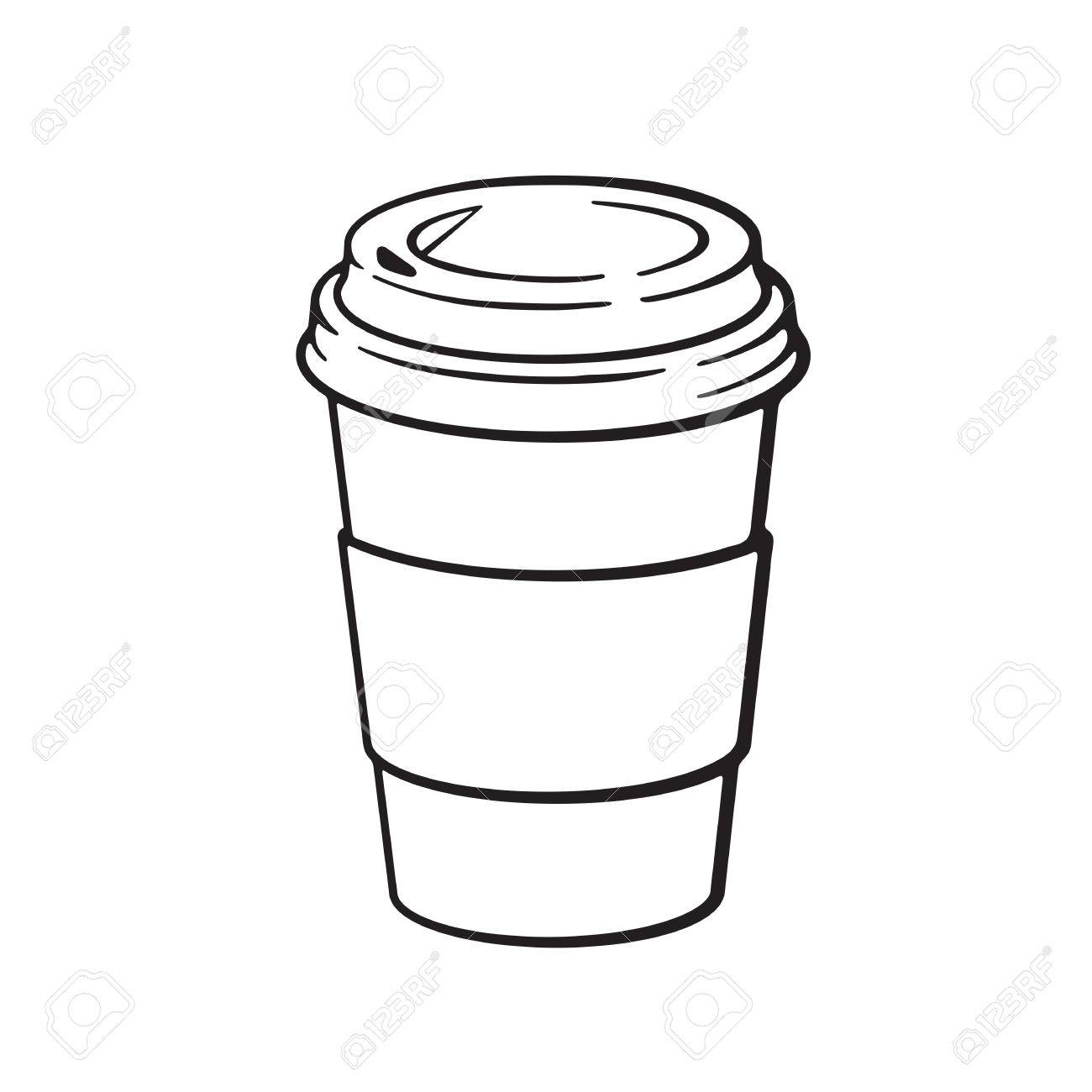 Cup Line Drawing At Getdrawings