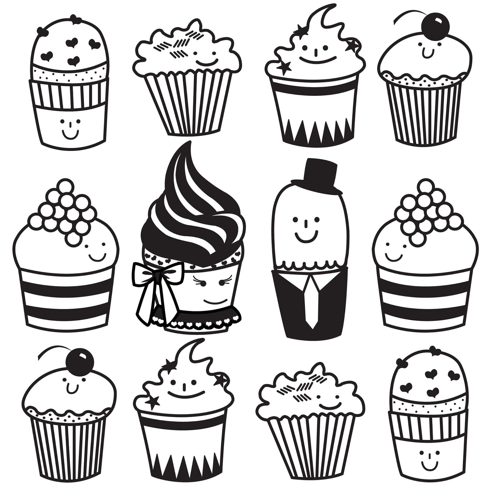 Cupcake Drawing Pictures At Getdrawings