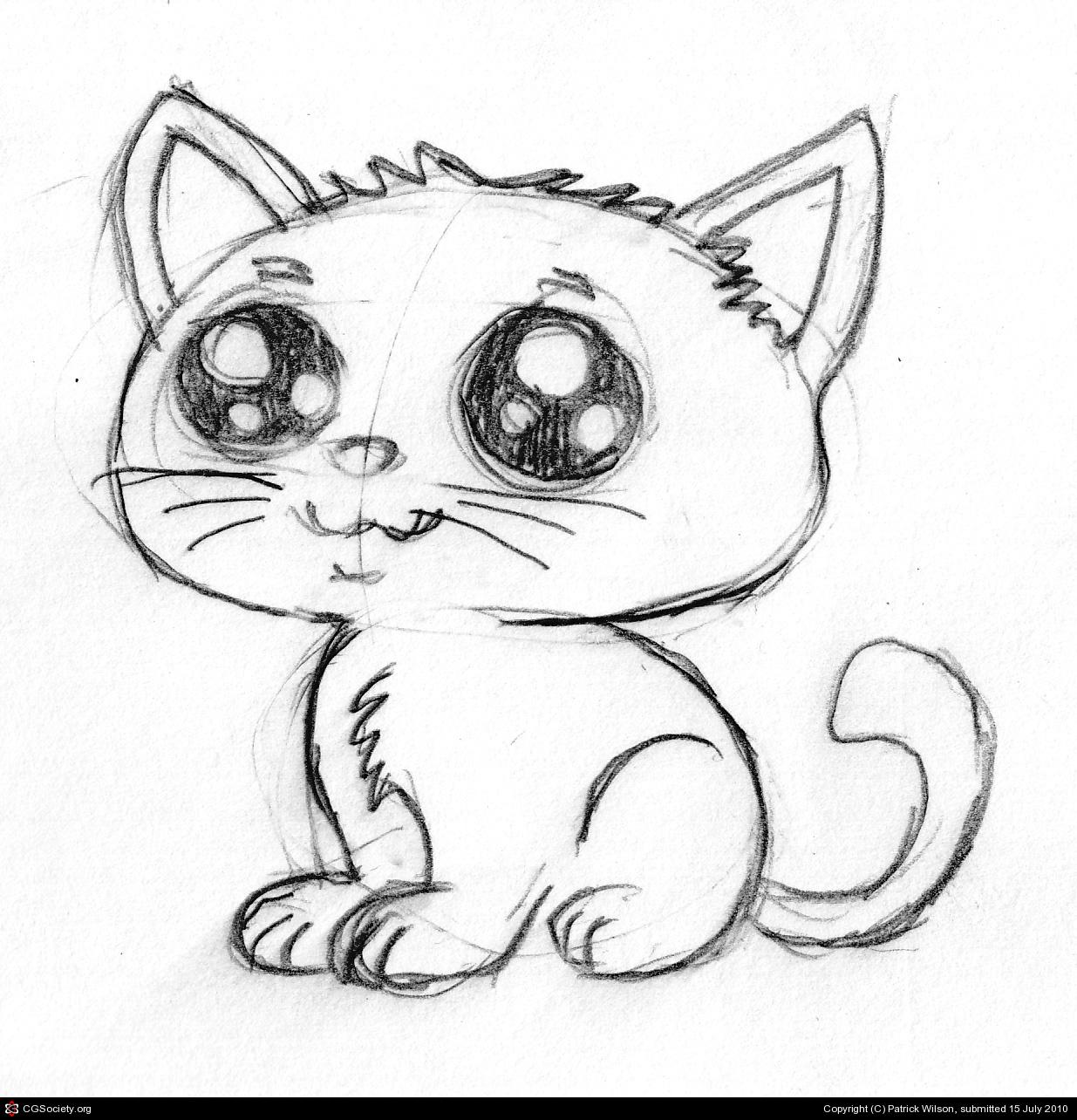Cute Cat Drawing Easy At Getdrawings