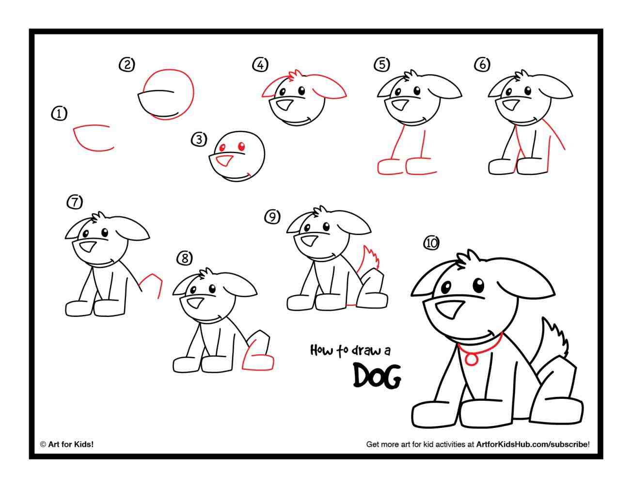 Cute Dog Drawing Step By Step At Getdrawings