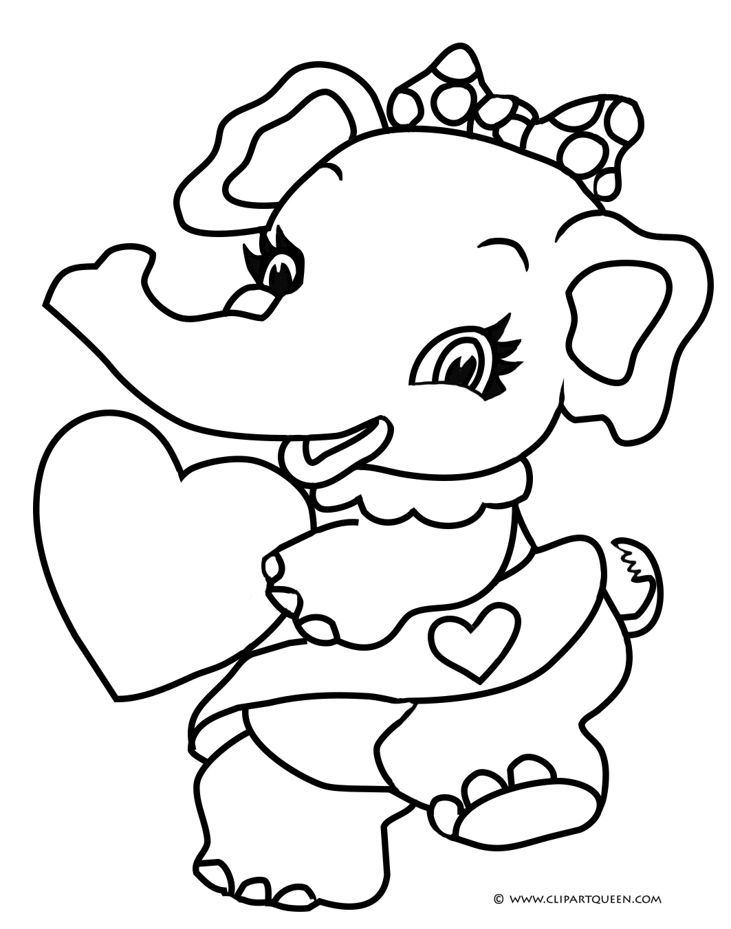 Cute Elephant Drawing At Getdrawings