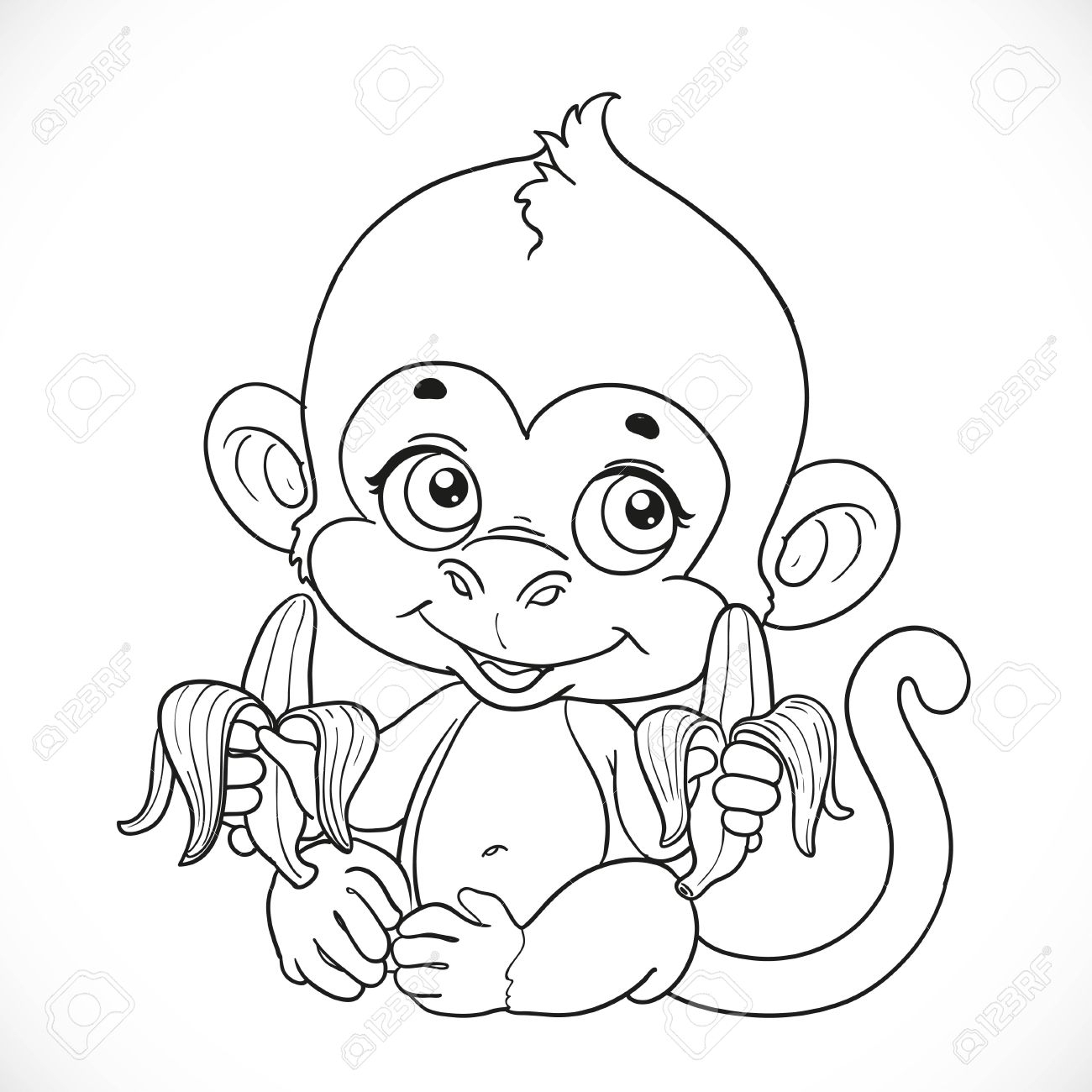 Cute Monkey Drawing At Getdrawings