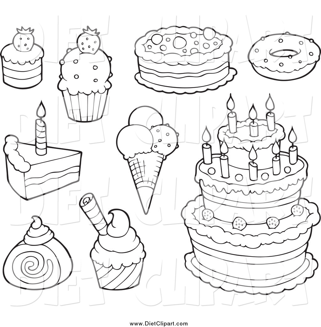 Desserts Drawing At Getdrawings