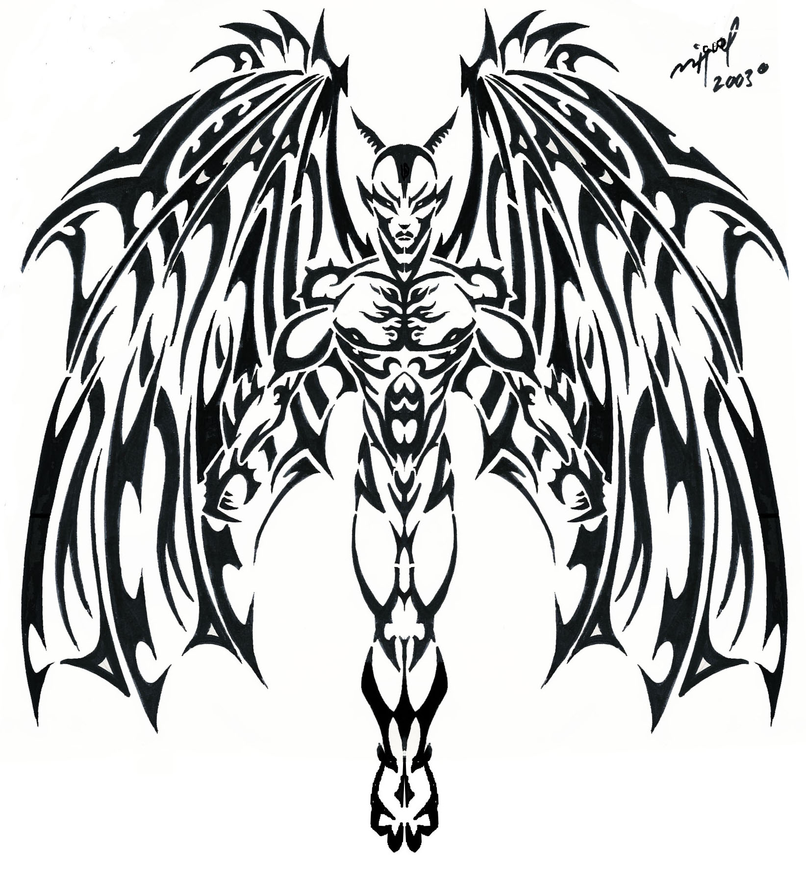 Devil Heart Drawing At Getdrawings