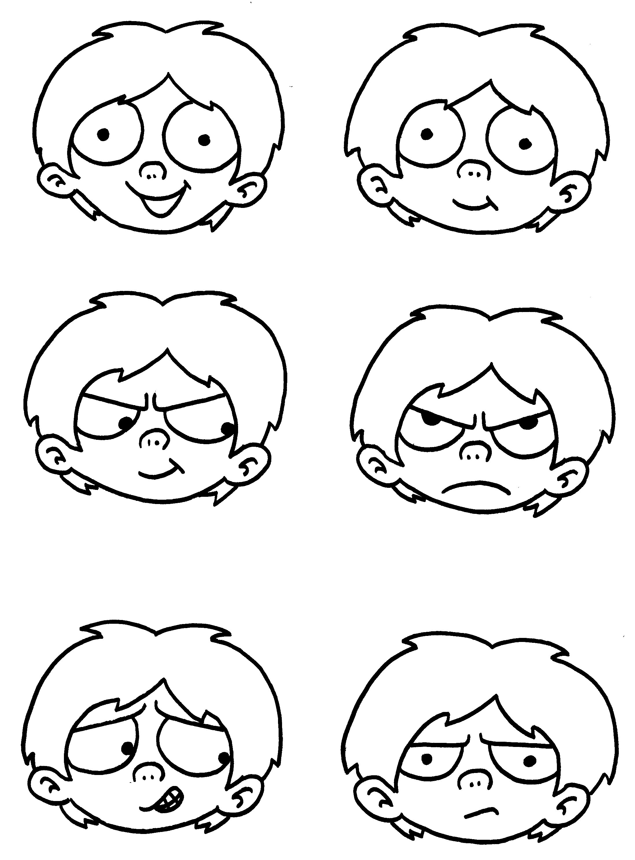 Different Facial Expressions Drawing At Getdrawings